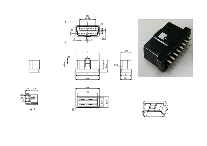 custom made OBD connector