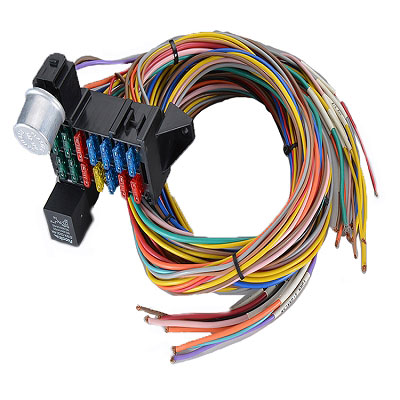 Automobile 12/20 way fuse box chassis wiring harness