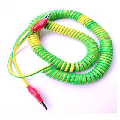 PU coating colorful elastic coil cord flexible spring sipral cable for Industrial automation machinery equipment