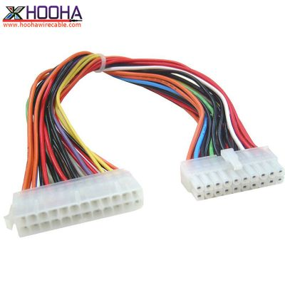 ATX power adapter wire 20Pin-M to 24Pin-F molex connector cable