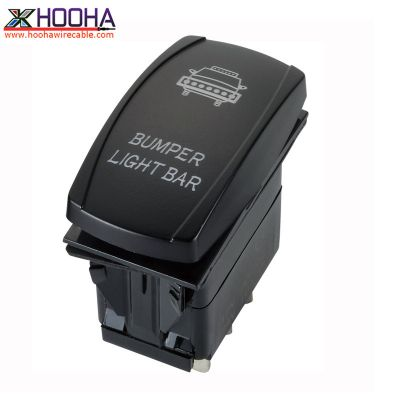 bumper light bar rocker type boat switch