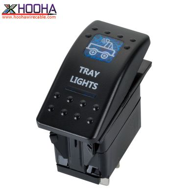 tray lights rocker type boat switch
