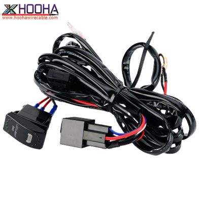 fog light wire harness with rocker switch