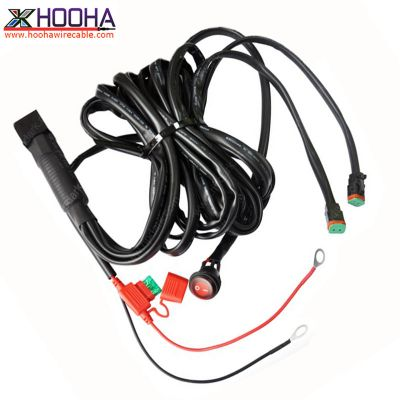 custom wire harness,Automotive Wire Harness,LED light wire harness,Deutsch Connector Wiring,ON-OFF Switch,OFF-Road