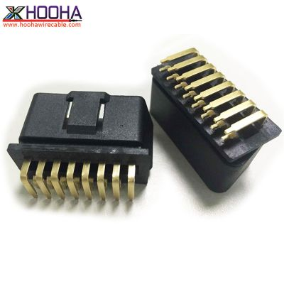 right angle golden plated terminal OBD connector